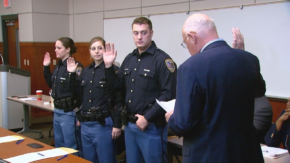 South Bend police officers swear in three new officers | WSBT