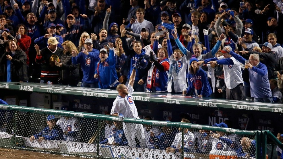 Wood homers as Cubs beat Giants 5-2 for 2-0 NLDS lead | WSBT