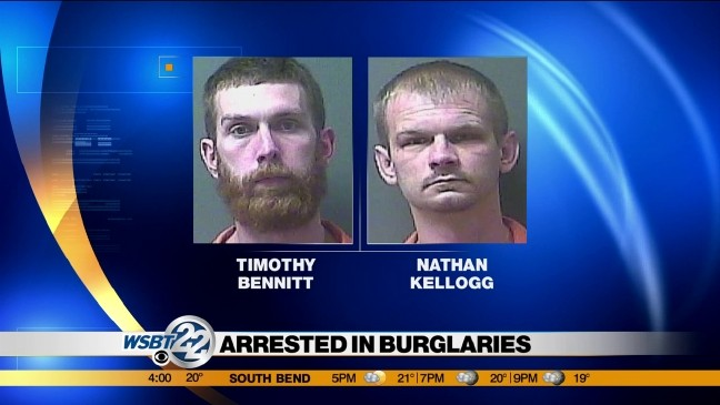 LaPorte County Police arrest two suspects in alleged crime