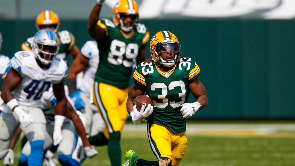 Jones Big Day Helps Packers Beat Lions 42 21 In Home Opener Wsbt